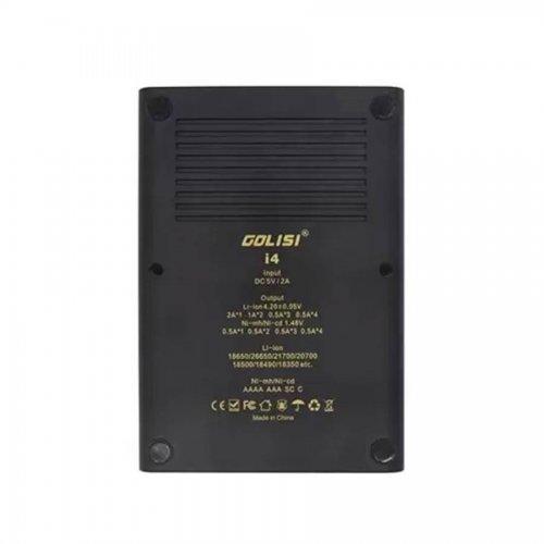 Golisi I4 Smart Charger con pantalla LCD  USB - Cargador de 4 Bahías