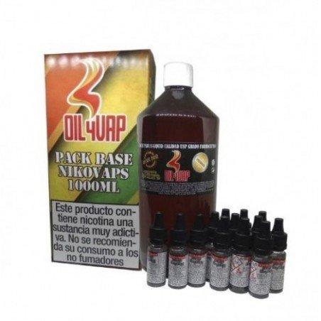 Pack Base Oil4Vap + Nicokits 1000 ml