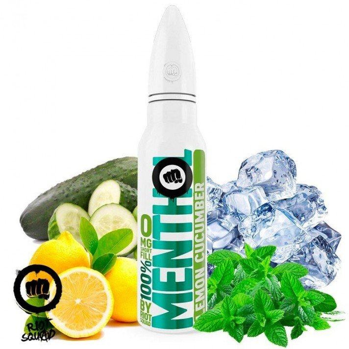 Lemon Cucumber 100% Menthol Riot Squad 50ml (shortfill)
