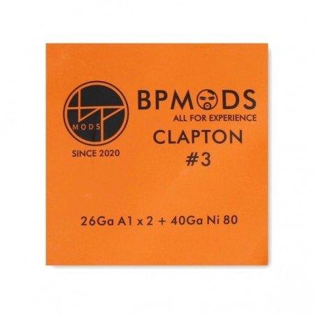 Clapton 3 26 Ga A1 x + 40 Ga Ni80 3 metros BP Mods