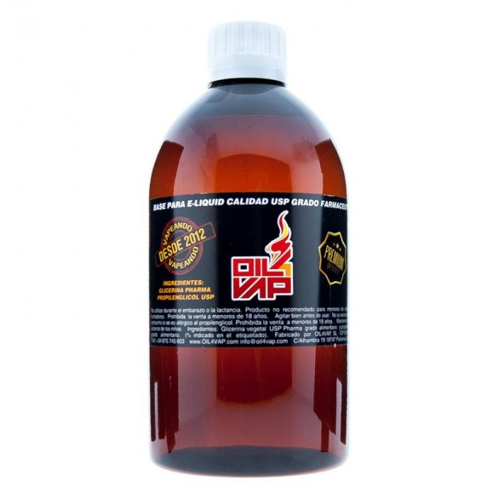 Base Oil4Vap 100 ml Sin Nicotina