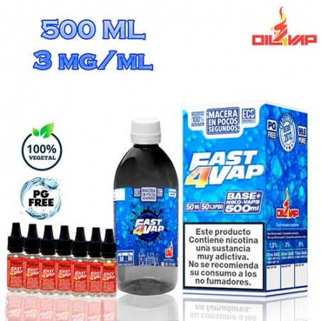 Base Fast4Vap 200ml Con Nicokits